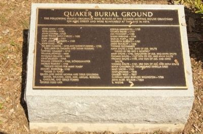 Quaker Burial Ground Marker image. Click for full size.