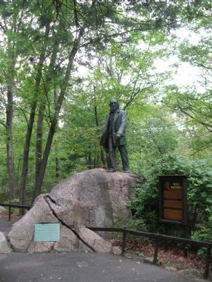Walt Whitman Statue and Marker image. Click for full size.