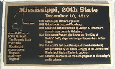 Mississippi, 20th State Marker Photo, Click for full size