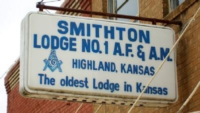 Smithton Lodge No. 1 A.F.&A.M. Marker image. Click for full size.
