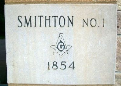 Smithton Lodge No. 1 A.F.&A.M. Cornerstone image. Click for full size.