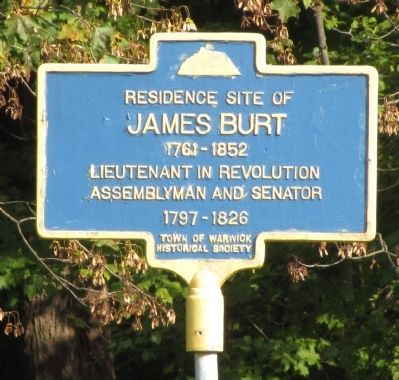 Residence site of James Burt Marker image. Click for full size.