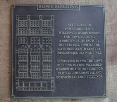 Rowe Building Marker image. Click for full size.