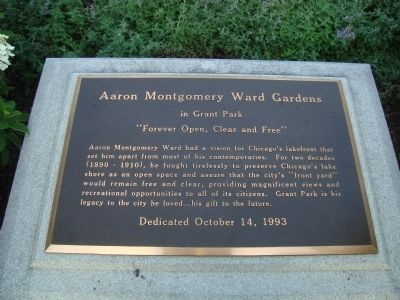 Aaron Montgomery Ward Gardens Marker image. Click for full size.