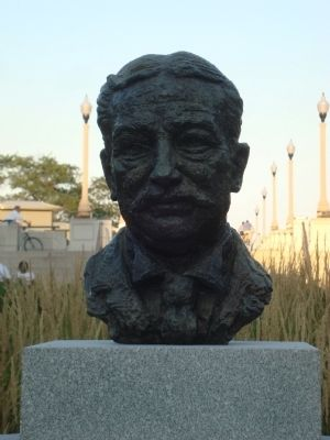 Bust of Aaron Montgomery Ward image. Click for full size.