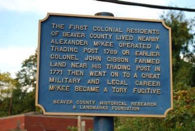 The First Colonial Residents of Beaver County Marker image. Click for full size.