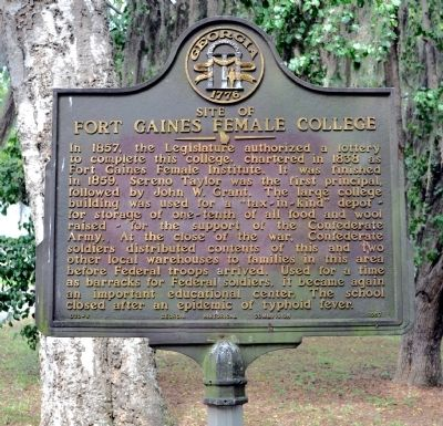 Site of Fort Gaines Female College Marker image. Click for full size.