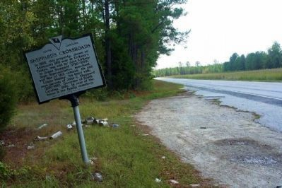 Sheppard's Crossroads Marker looking southward image. Click for full size.