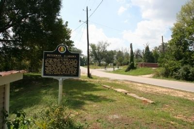 Peterman, Alabama Marker (South) image. Click for full size.