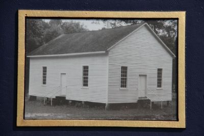 Picture on the marker of Indian Springs Baptist Church image. Click for full size.