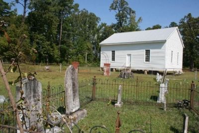 View of the Indian Springs Baptist Church from the cemetery image. Click for full size.