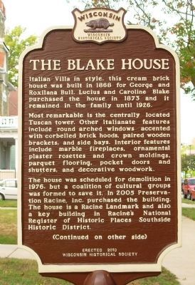 The Blake House Marker image. Click for full size.