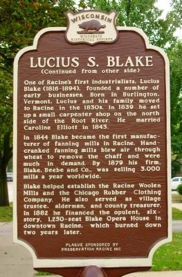 Lucius S. Blake Marker image. Click for full size.