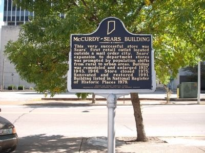 Side 'Two' - - McCurdy - Sears Building Marker image. Click for full size.