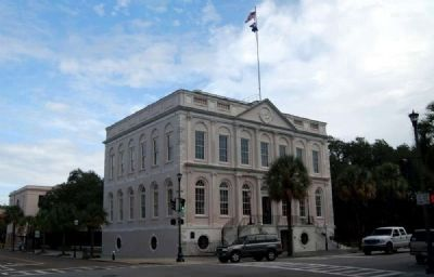 Charleston City Hall<br>Broad Street (South) Facade<br>From West Corner of Meeting and Broad Streets image. Click for full size.