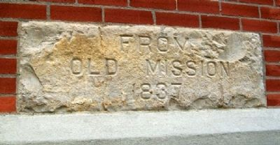 Highland Community College Old Mission Stone image. Click for full size.