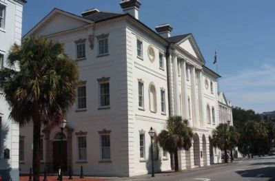County of Charleston Historic Courthouse seen from Broad Street Photo, Click for full size