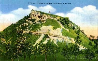 Barn Bluff And Stairway image. Click for full size.