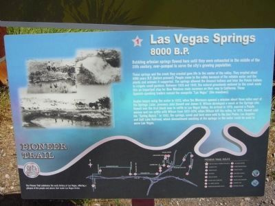 Las Vegas Springs Marker Photo, Click for full size