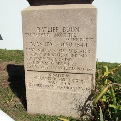 Base Section - - Ratliff Boon Marker image. Click for full size.