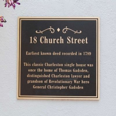 18 Church Street Marker image. Click for full size.