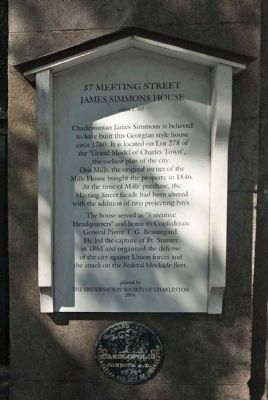 37 Meeting Street Marker image. Click for full size.