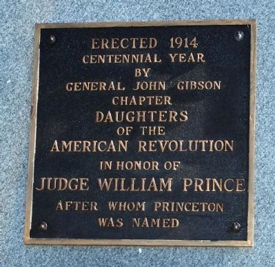 Judge William Prince Marker image. Click for full size.