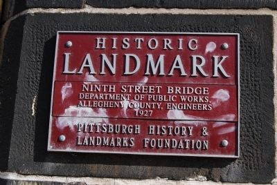 Ninth Street Bridge Marker image. Click for full size.