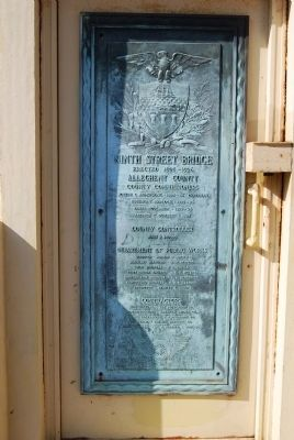 Ninth Street Bridge Dedication Plaque image. Click for full size.