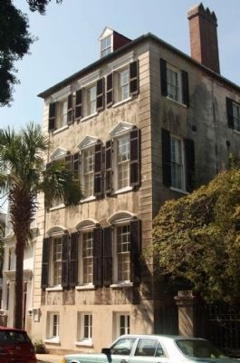 Poyas-Mordecai House and Marker (L) at 69 Meeting Street, Charleston image. Click for full size.