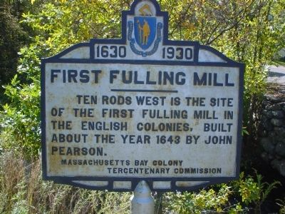 First Fulling Mill Marker image. Click for full size.
