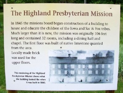 The Highland Presbyterian Mission Marker image. Click for full size.