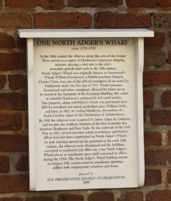 One North Adger's Wharf Marker image. Click for full size.