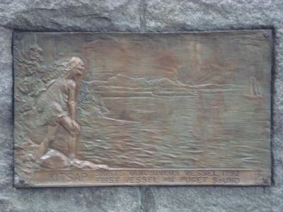 Chief Seattle Marker - Right Side image. Click for full size.