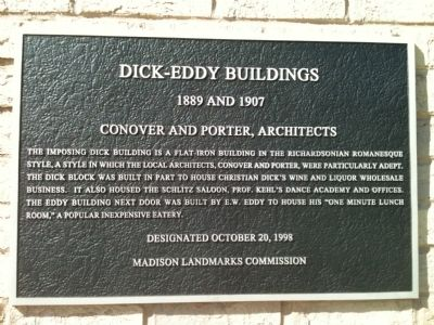 Dick-Eddy Buildings Marker image. Click for full size.