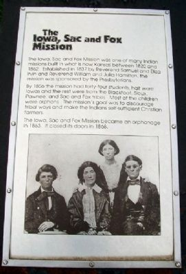 The Iowa, Sac and Fox Mission Marker image. Click for full size.