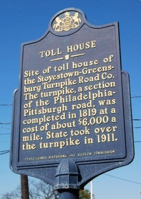 Toll House Marker image. Click for full size.