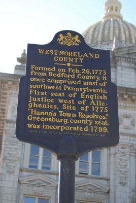 Westmoreland County Marker image. Click for full size.
