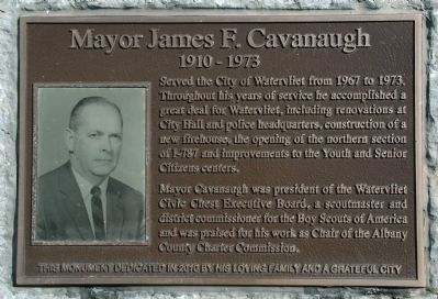 Mayor James F. Cavanaugh Marker image. Click for full size.