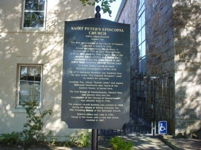 Saint Peter's Episcopal Church Marker image. Click for full size.