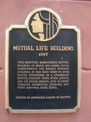 Mutual Life Building Marker image. Click for full size.