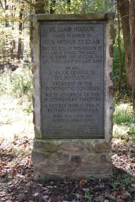 St. Clair Hollow Marker Photo, Click for full size