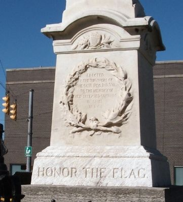 Front Panel - - Civil War Honor Roll Memorial Marker image. Click for full size.