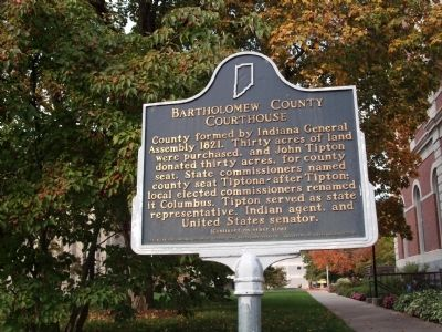 Side 'One' - - Bartholomew County Courthouse Marker image. Click for full size.