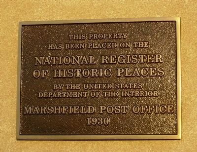 Marshfield Post Office Marker image. Click for full size.