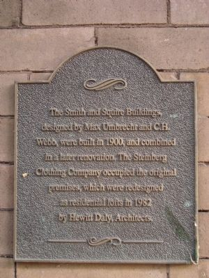 Smith and Squire Buildings Marker image. Click for full size.
