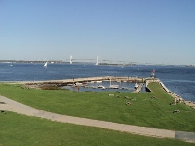 View of Narragansett Bay from Marker image. Click for full size.