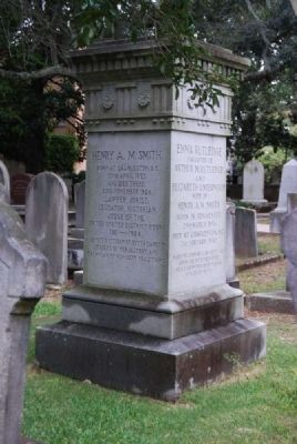 Henry A.M. Smith / Emma Rutledge Tombstone Photo, Click for full size