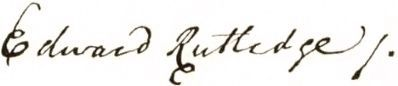 Edward Rutledge Signature Photo, Click for full size