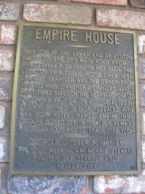 Empire House Marker image. Click for full size.
